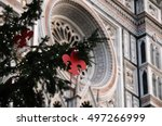 christmas in florence ... | Shutterstock . vector #497266999