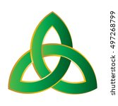 triquetra or the trinity knot.... | Shutterstock .eps vector #497268799