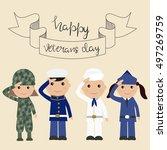 happy usa veteran day... | Shutterstock .eps vector #497269759