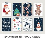 christmas and happy new year... | Shutterstock .eps vector #497272009