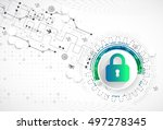 protection concept. protect... | Shutterstock .eps vector #497278345