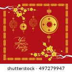 happy chinese new year 2017... | Shutterstock . vector #497279947
