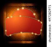 abstract shining retro light... | Shutterstock .eps vector #497282971