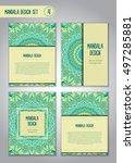 tribal mandala design set.... | Shutterstock .eps vector #497285881