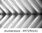 lath ceiling. construction of... | Shutterstock . vector #497290141