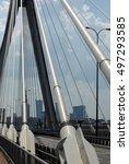 modern bridge pylon | Shutterstock . vector #497293585