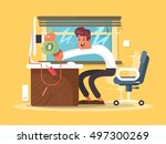 online income freelance | Shutterstock .eps vector #497300269
