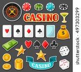 set of casino gambling game... | Shutterstock .eps vector #497303299