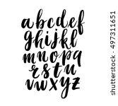 modern hand written calligraphy ... | Shutterstock .eps vector #497311651