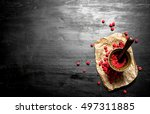 Red Raspberries In A Mortar...