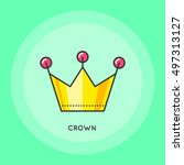 crown thin line icon. party... | Shutterstock .eps vector #497313127