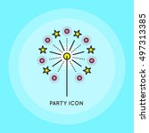 sparkle thin line icon. party...