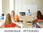 education  school  teaching ... | Shutterstock . vector #497316181