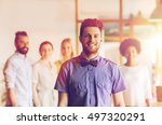 business  startup  people and... | Shutterstock . vector #497320291