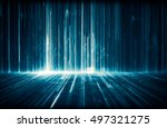 futuristic abstract digital... | Shutterstock . vector #497321275
