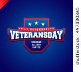 veterans day logo isolated... | Shutterstock .eps vector #497330365