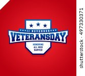 veterans day logo isolated... | Shutterstock .eps vector #497330371
