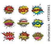creative different typographic...   Shutterstock .eps vector #497335861