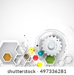 abstract futuristic fade... | Shutterstock .eps vector #497336281