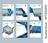 creative business brochure set  ... | Shutterstock .eps vector #497340091