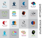 mind icons set   isolated on... | Shutterstock .eps vector #497340445