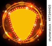 abstract shining retro light... | Shutterstock .eps vector #497344405