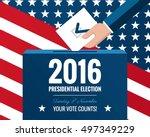 presidential election banner... | Shutterstock .eps vector #497349229
