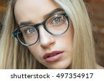 young business woman blonde in... | Shutterstock . vector #497354917