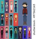 set of people  | Shutterstock .eps vector #497362165