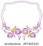 Abstract Elegant Violet Frame....