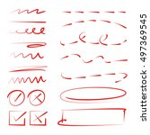 hand drawn dashed lines  check... | Shutterstock .eps vector #497369545