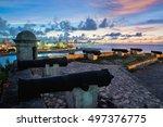 havana skyline and bay entrance ... | Shutterstock . vector #497376775