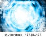 blue abstract technology... | Shutterstock . vector #497381437