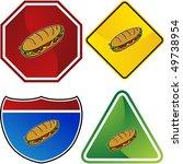submarine sandwich | Shutterstock . vector #49738954
