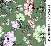 beautiful seamless pattern of... | Shutterstock . vector #497391685