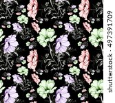 beautiful seamless pattern of... | Shutterstock . vector #497391709