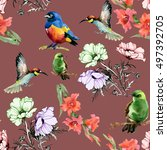 beautiful seamless pattern of... | Shutterstock . vector #497392705