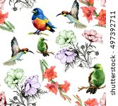 beautiful seamless pattern of...   Shutterstock . vector #497392711