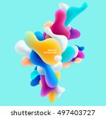 plastic colorful shapes.... | Shutterstock .eps vector #497403727