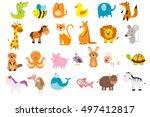 vector illustration of cute... | Shutterstock .eps vector #497412817