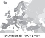 europe high detailed vector...