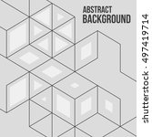vector abstract boxes... | Shutterstock .eps vector #497419714