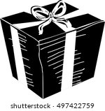 gift box with ribbon | Shutterstock .eps vector #497422759