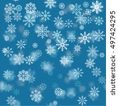 christmas holiday background... | Shutterstock .eps vector #497424295