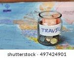 travel budget   vacation money... | Shutterstock . vector #497424901