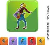 shopping woman | Shutterstock . vector #49743628