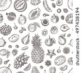 seamless pattern with different ... | Shutterstock .eps vector #497438194