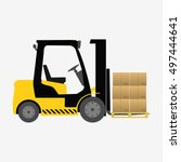 Forklift Truck With Boxes...