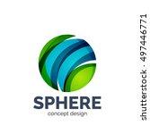 vector sphere abstract logo... | Shutterstock .eps vector #497446771