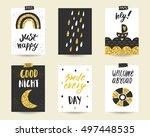 cute doodle black and gold...
